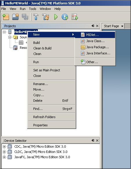 SDK 3.0 New Midlet